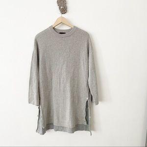 J. Crew Merino Cotton Oversized Tunic Sweater